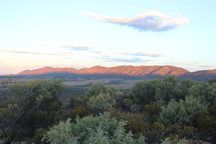 Sunset over the Flinders Ranges, South Australia