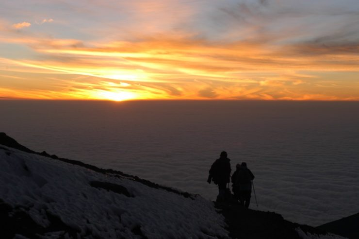 A mount kilimanjaro dawn-from stella point to summit - climbing kilimanjaro, epic Africa