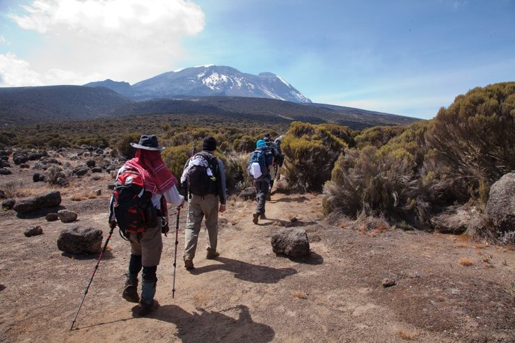 trekking towards Mount Kilimanjaro - epic Africa