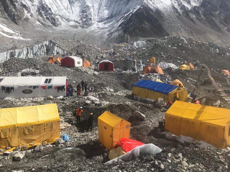 Update 15 Camp 1 & Everest Base Camp setup