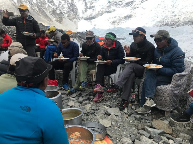 Puja ceremony & sherpa lunch - Epic Everest Expedition 2018