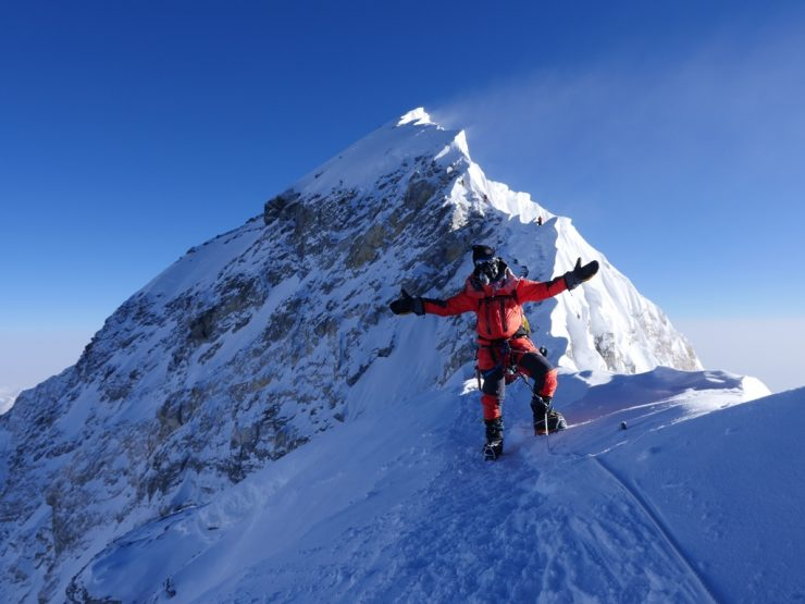 Journey to the summit - Guy Cotter on south summit of Everest 16 May 2018