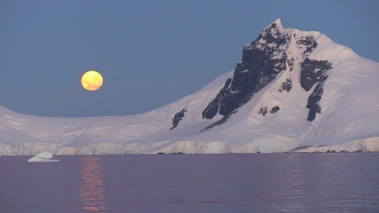 Super moon over Antarctica