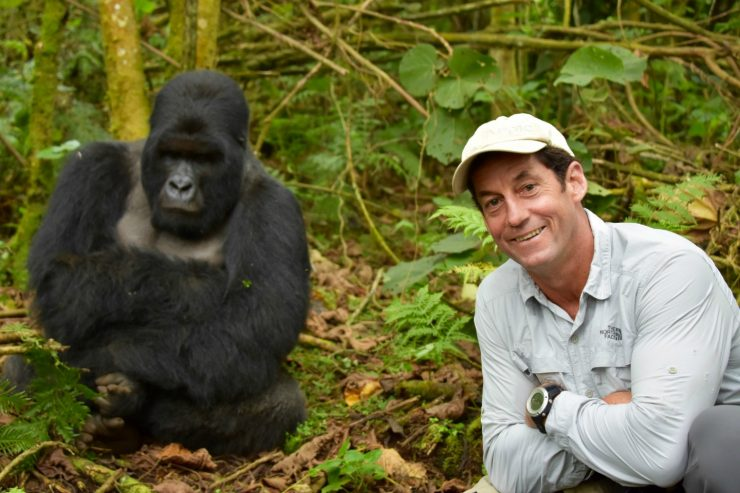 Family Safari Highlights - Brad with gorilla in Rwanda Epic Africa