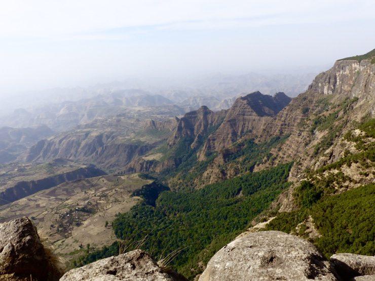 Simien Mountains view - Ethiopia. Africa safari adventure, epic travel blog