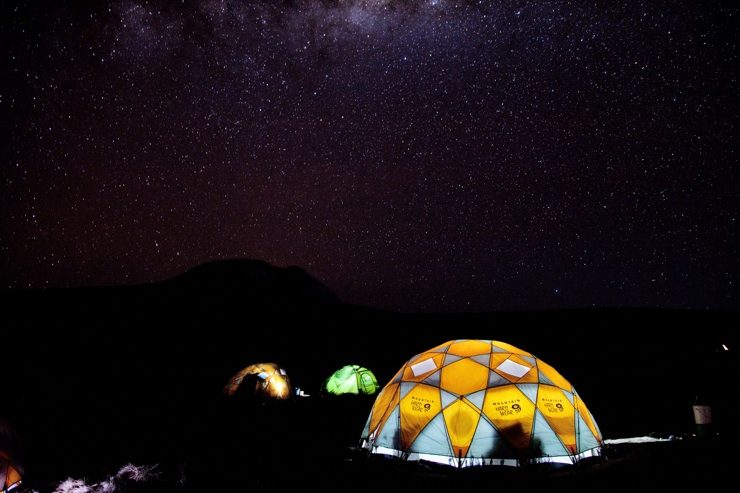 night sky over Mount Kilimanjaro - climbing kilimanjaro, epic africa