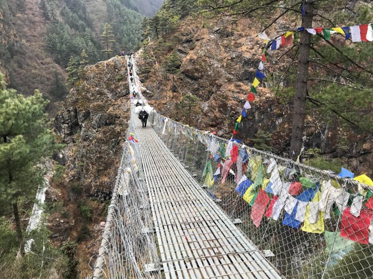 Route to Namche - Everest suspension bridge - Epic Everest Update 3
