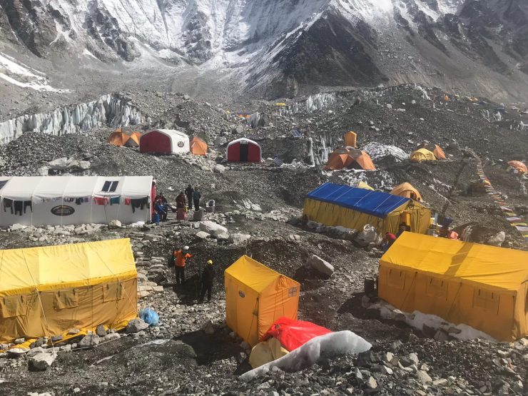 Update 15 Camp 1 & Everest Base Camp setup
