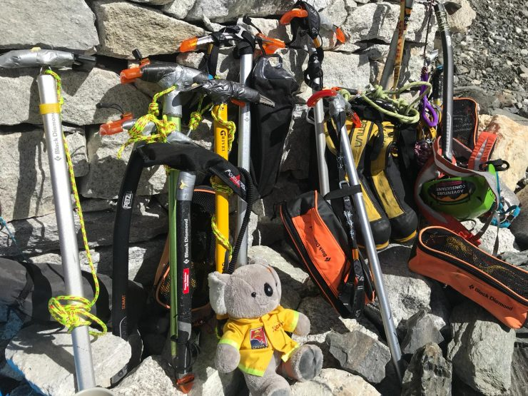 Puja ceremony blessing of ice axe - Epic Everest expedition 2018