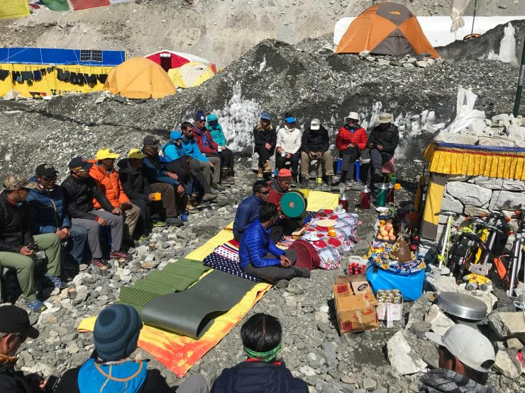 Puja ceremony - Epic Everest Expedition 2018