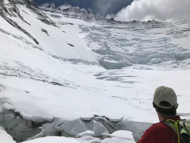 touching the Lhotse Face - Everest acclimatisation rotation 1
