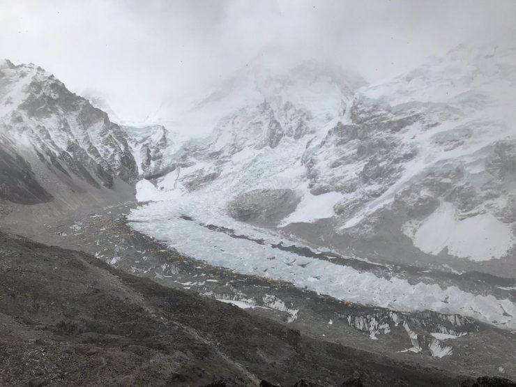 EBC rest days and rotation 2 prep - snow storm over Everest