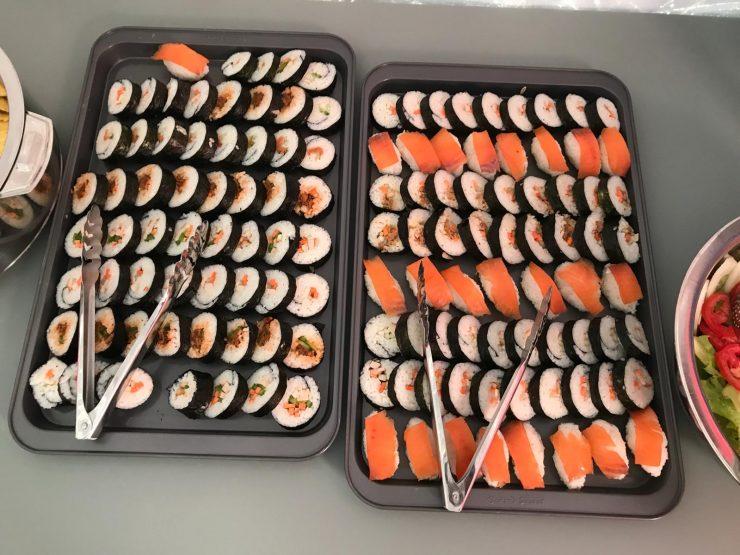Everest Update 18 acclimatisation rotation 2 - sushi feast at Everest Base Camp