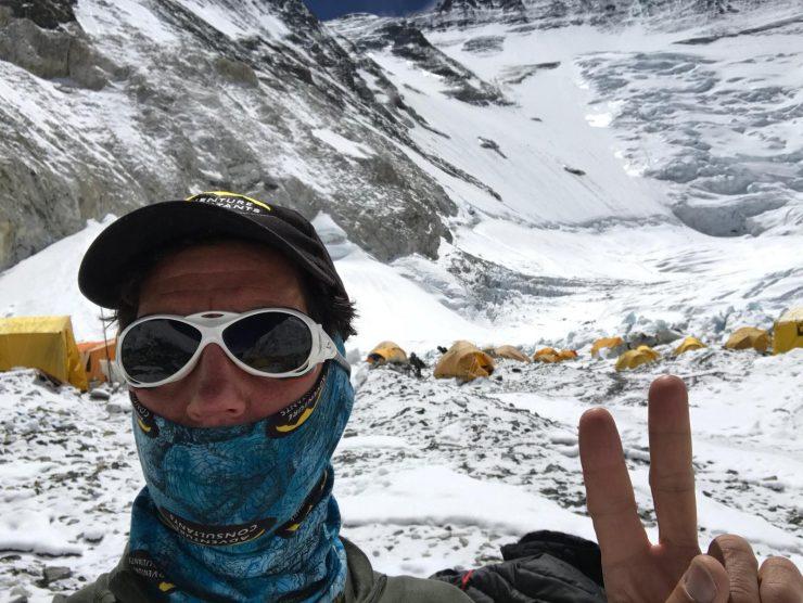 Brad looking to Lhotse Face - Everest summit Plan