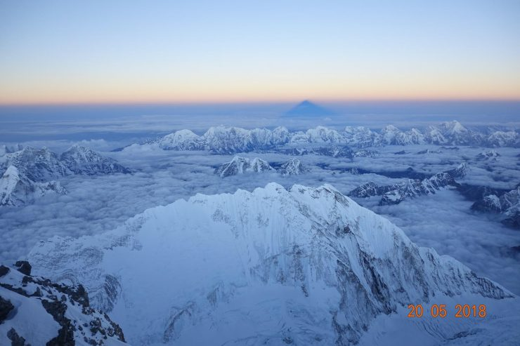 View from the summit of Everest.