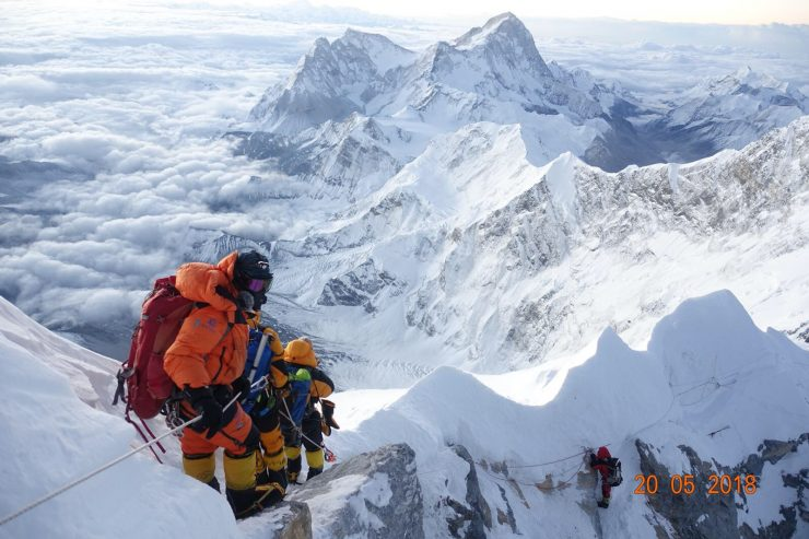 The descent from Everest.