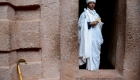Ethiopia churchman in rock hewn church _Rob Ethiopia journey April 2018