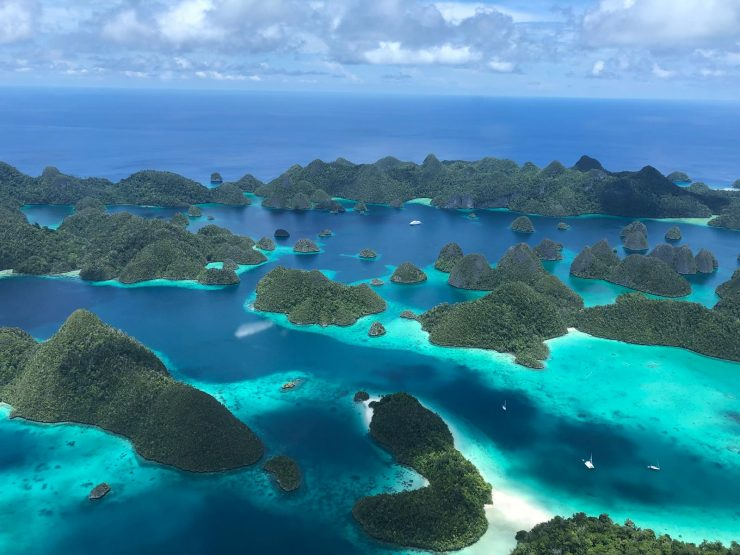 Aerial of Raja Ampat epic Indonesia