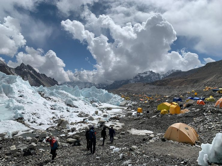 Arriving in Everest Base Camp