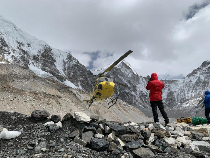 Heli ride from EBC to Kathmandu- EBC Trek 2019
