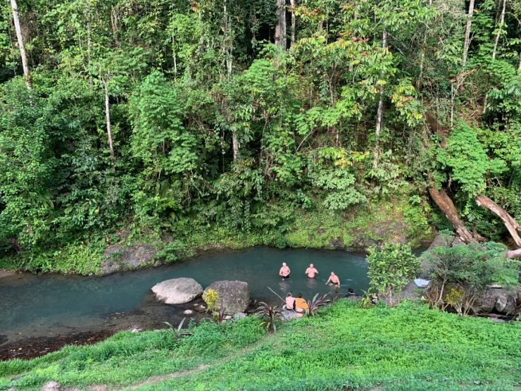 Swimming hole at Va-Ule Creek Epic Kokoda PNG 2019