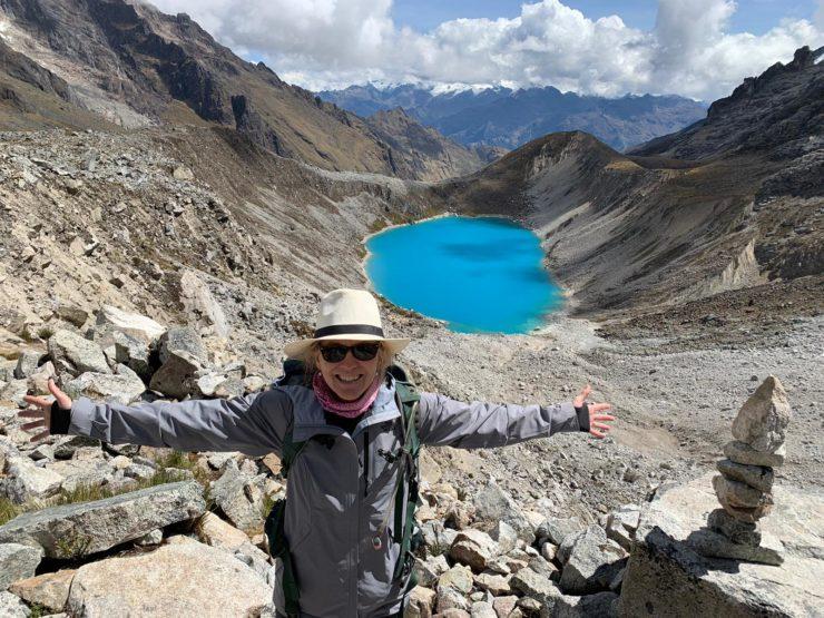 Glacial lake Salkantay Pass Epic Peru