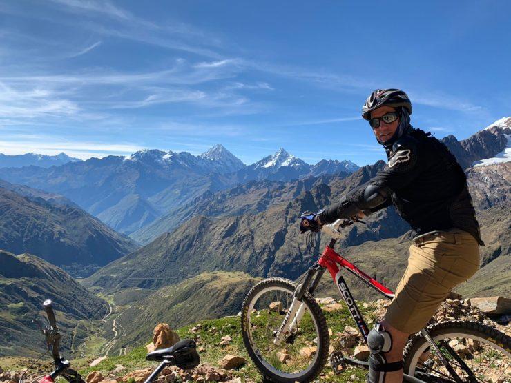 Brad Horn Mountain biking Salkantay trek Epic Peru
