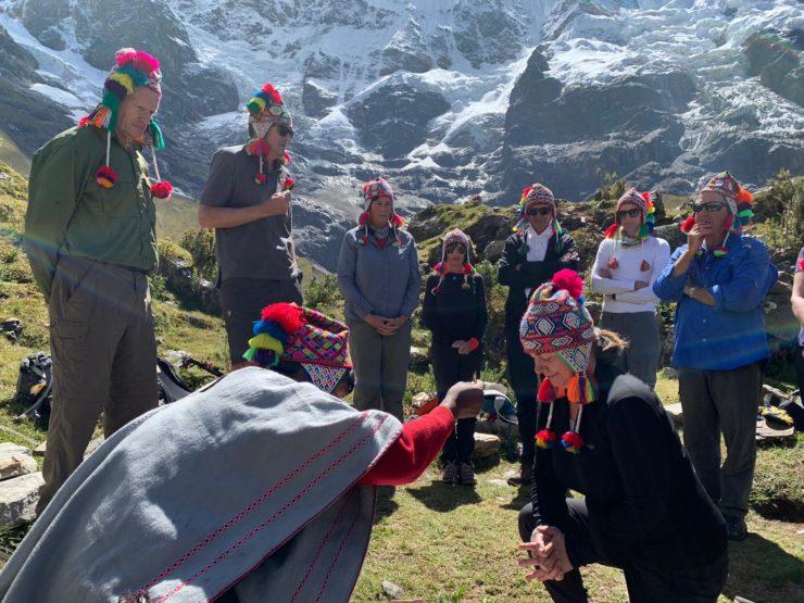 Incan blessing ceremony - Salkantay Trek Epic Peru