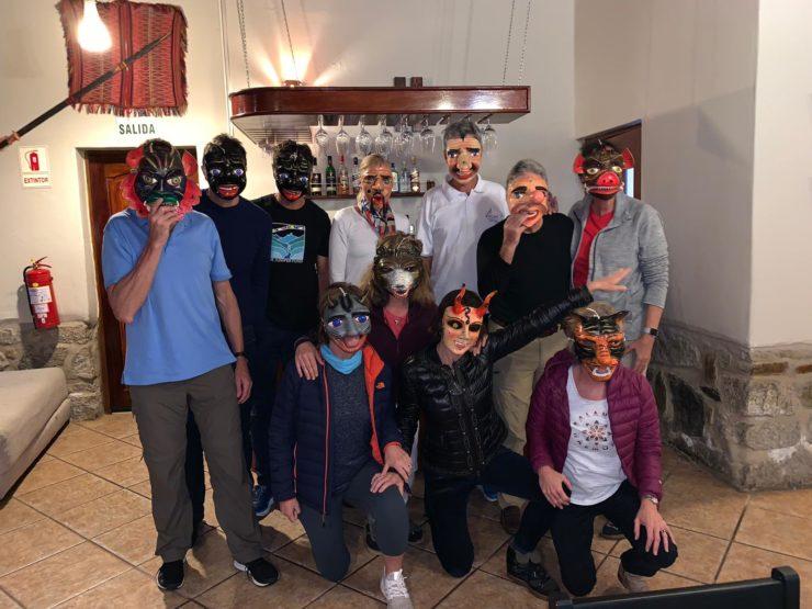 Peruvian festival masks at Salkantay Lodge Epic Peru